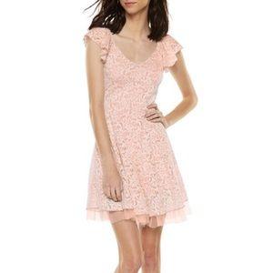 Disney Cinderella Floral Blush Ruffle Lace Dress